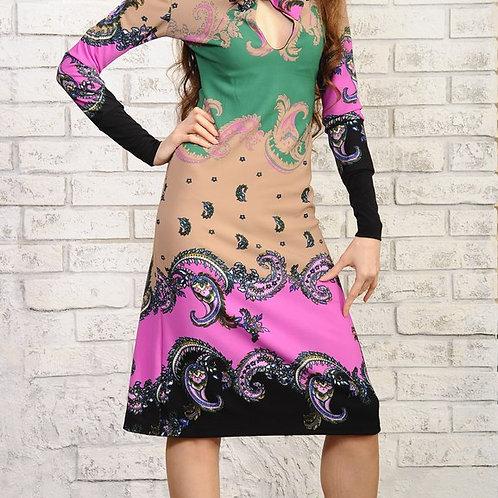 Платье Завиток с воротом шарфом