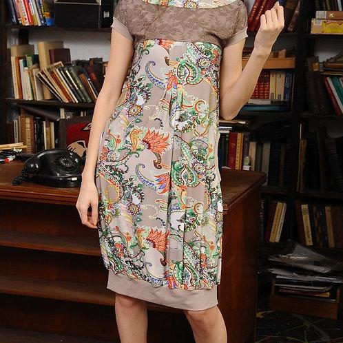 Платье Марихуана с кружевной кокеткой