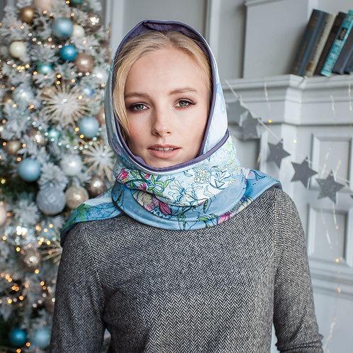 """ПлатОки """"Райские Птички"""" серо-голубой"""