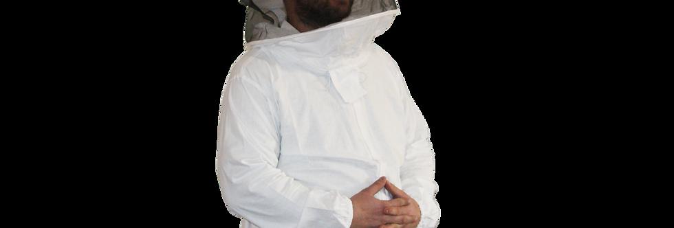 Včelárska bunda so zipsom a klobúkom