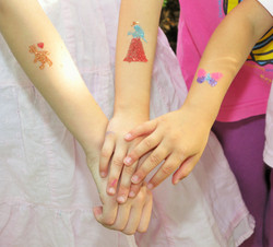 Glitter tattoo for Children