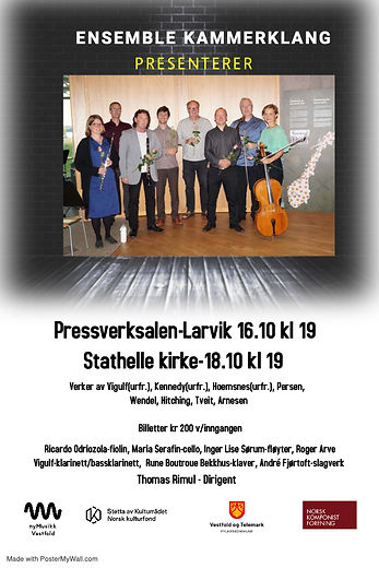 Ensemble KammerKlang plakat for oktober