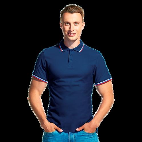 Мужская рубашка поло «триколор»