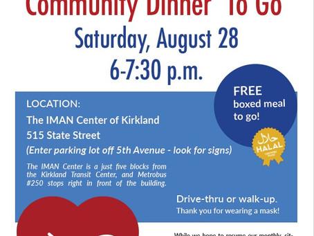 """Community Dinner """"To Go"""""""