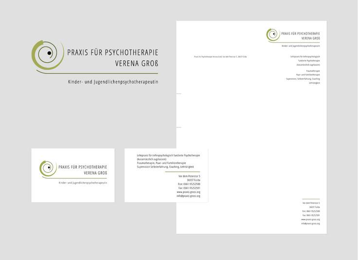 Neugestaltung Logo Praxis für Psychotherapie, Geschäftspapiere