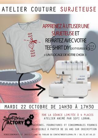 Atelier Surjeteuse avec Sofi Loran le 22 Octobre ( inscription obligatoire :)