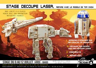 Stage de 20 heures : Objectif Star Wars -Du 8 au 12 Juillet à partir de 11 ans