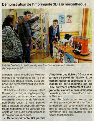 Mois du Numérique : Le Fablab était à Pordic :)