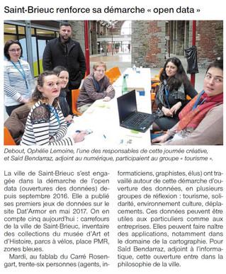 """Saint-Brieuc renforce sa démarche """"open data"""""""