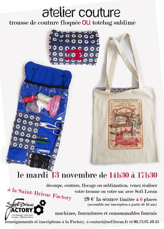 Atelier Couture avec Sofi Loran le 13 Novemvre 2018 au Fablab