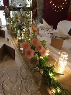 Table des mariés champêtre