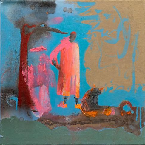David Eddington, Untitled   18 x 18  Acr