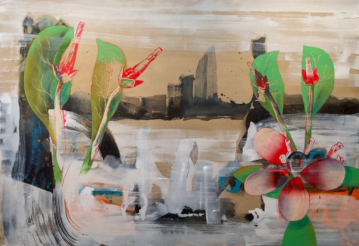David Eddington, City,  98 x 66, Acrylic