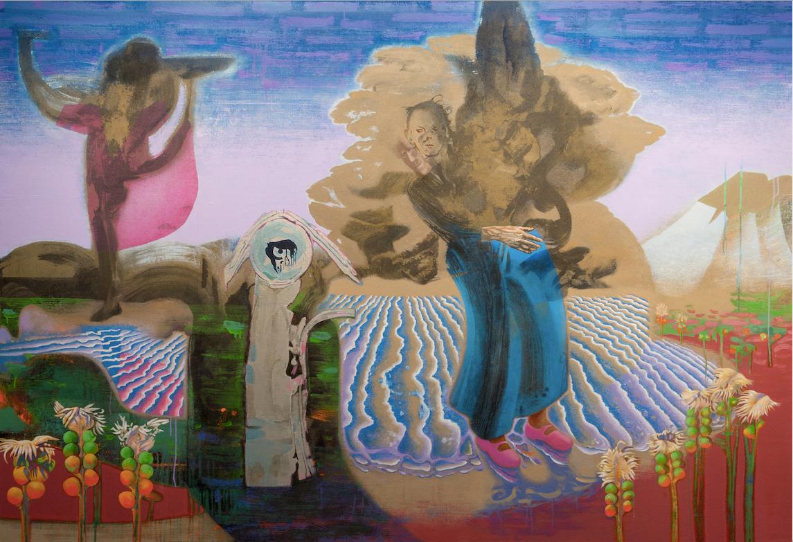 Prodigal Species, 96 x 66, Acrylic on ca