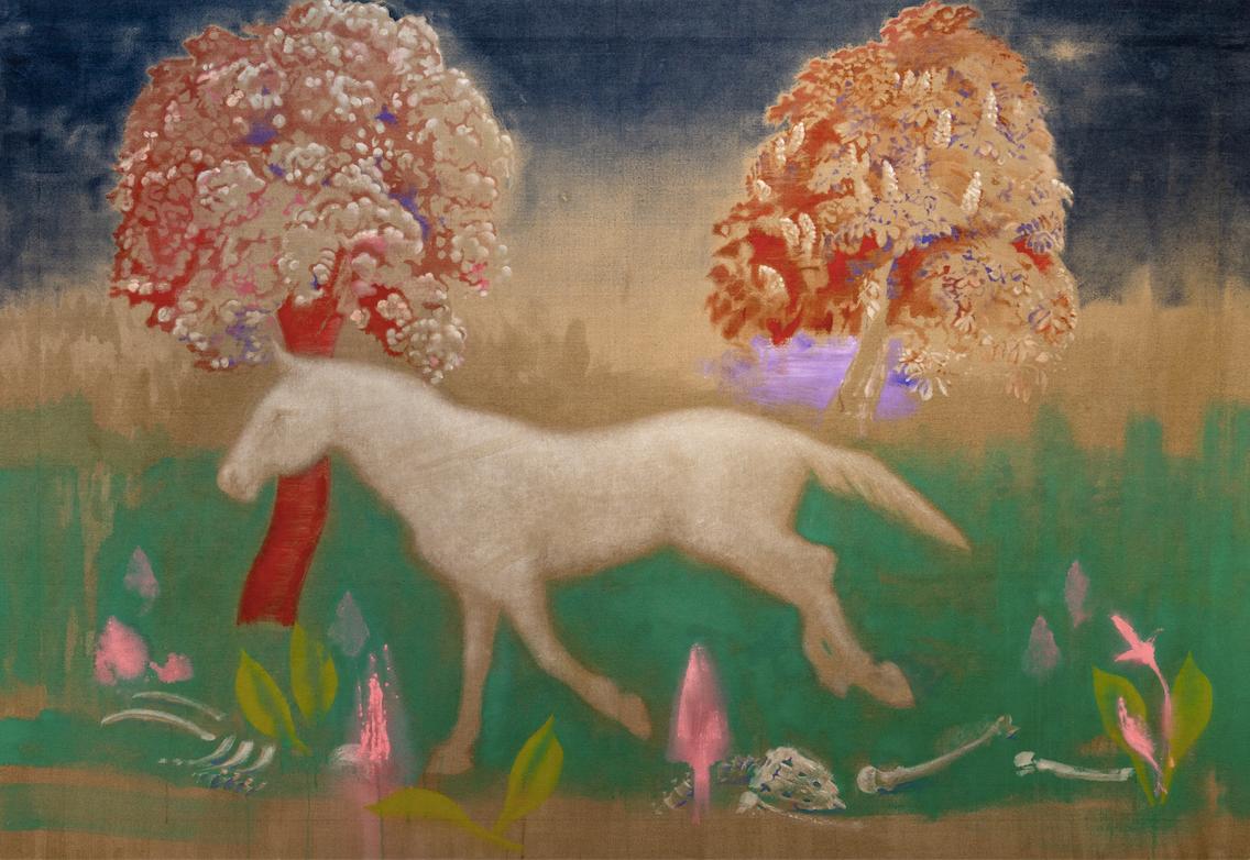 David Eddington, Brown field, 96 x 66, A