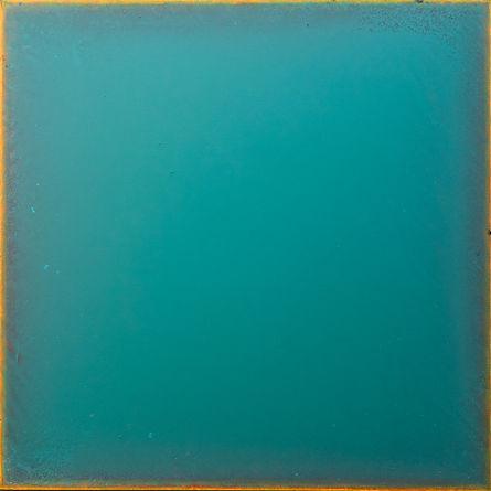Turquoise 5  24 x 24 acryl on panel 2020