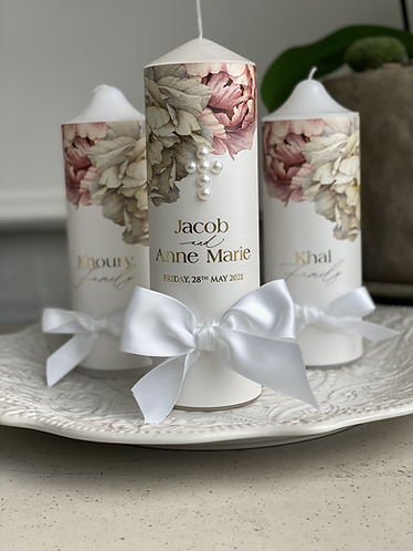 Anne Marie Wedding Candle set