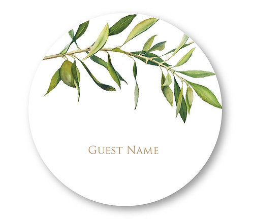 Olive - Round Place Card