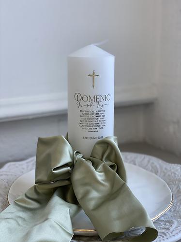 Domenic Christening Candle