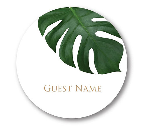 Russell- Round Place Card