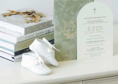 Justin's Christening Invite