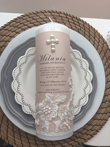 Milania Christening Candle