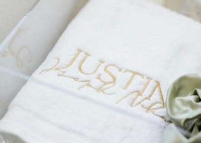 Justin's Christening Towel 2