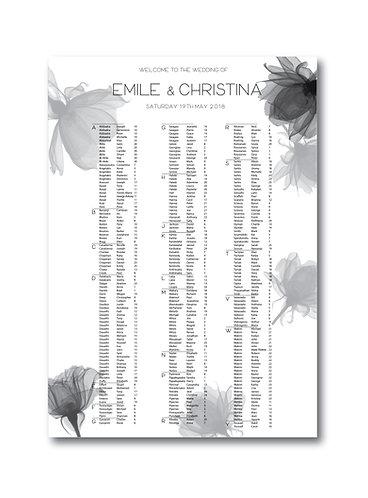 Seating Chart - Christina