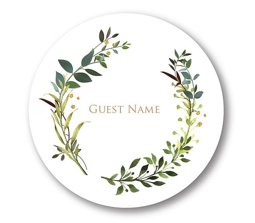 Jane - Round Place Card