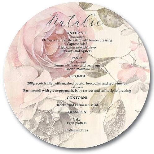 Rose Garden Round Menu