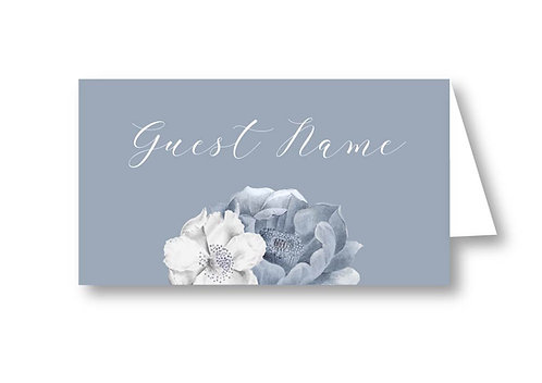 Shades of blue - Place Card