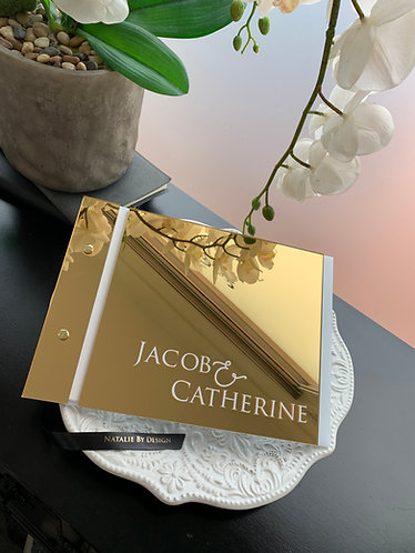 Gold Acrylic Guestbook