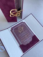 Clear acrylic wedding invitation .heic