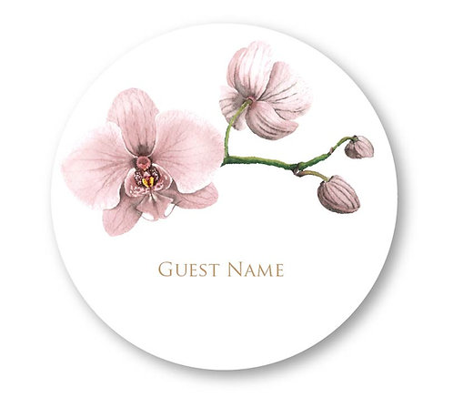 Nude Orchid - Round Place Card