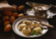 Batatas em creme