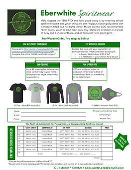 Eberwhite PTO Spiritwear Order Form Fall 2020