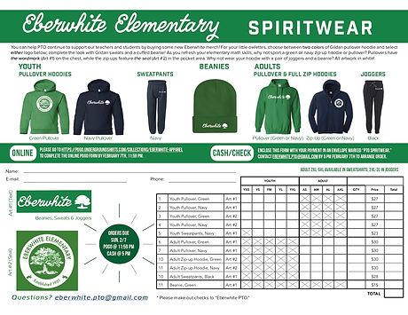 2021 Eberwhite Spiritwear Order Form