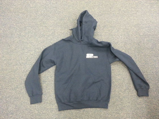 Youth Navy Hooded Sweatshirt
