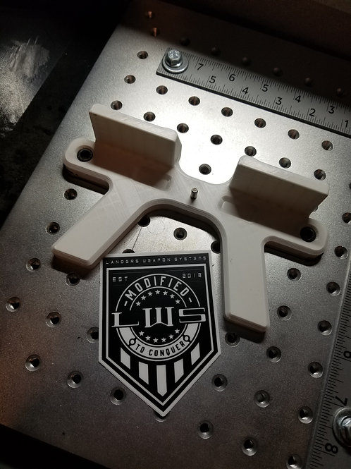 Glock frame laser engraving fixture