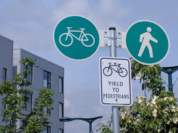 Bike Route Signs in Vancouver
