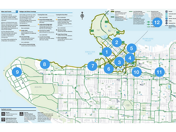 Vancouver Neighborhoods to Bike to