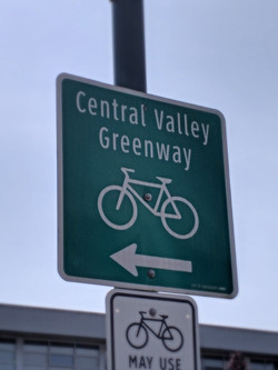Cental Valley Greenway sign