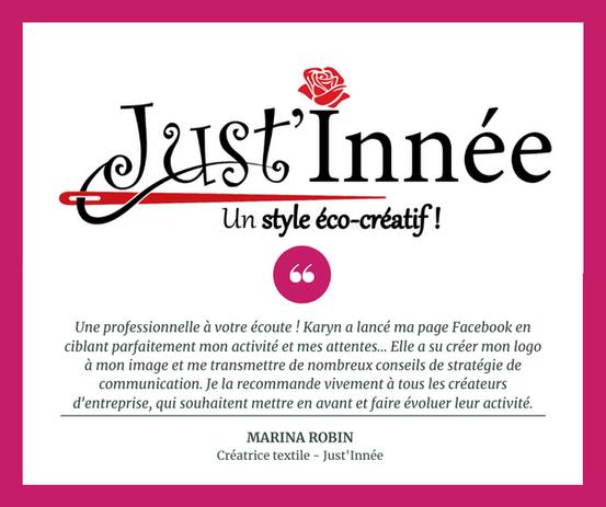 Stratégie de communication - Just'Innée (Charente-Maritime)
