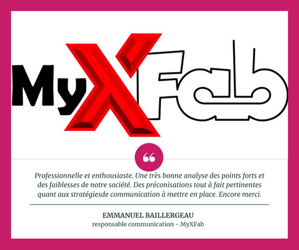 Stratégie digitale - MyXFab (Charente-Maritime)