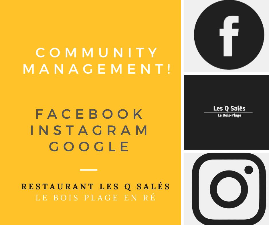 Community management | Restaurant Les Q Salés - île de Ré