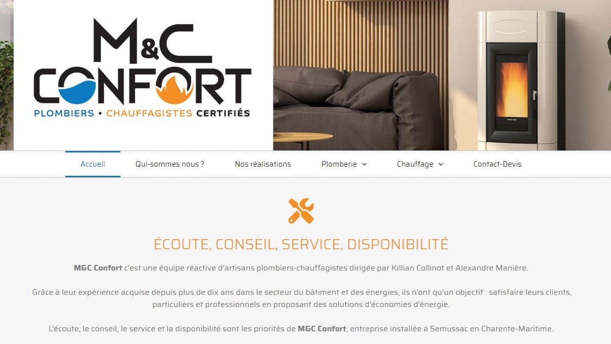 Site internet | M&C Confort (Charente-Maritime)