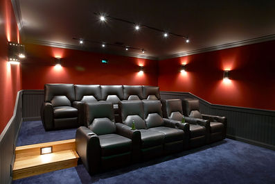 home theater, fabric panels, acoustic solutions