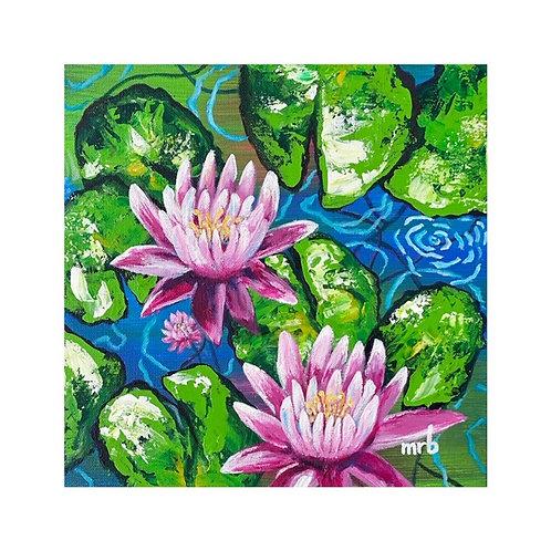 Water Lilies 12 x 12
