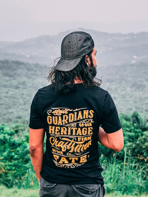 Strict guardians of our heritage firm craftsmen of our fate round neck t-shirt.