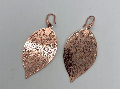 Rosegold plated leaf earrings  #11 & #12